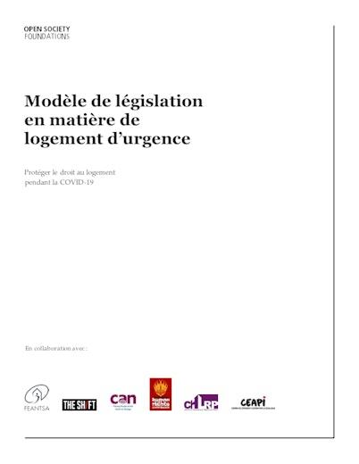 First page of PDF with filename: ji-covid_housing_report-housing_legislation-2020_12_09-fr.pdf