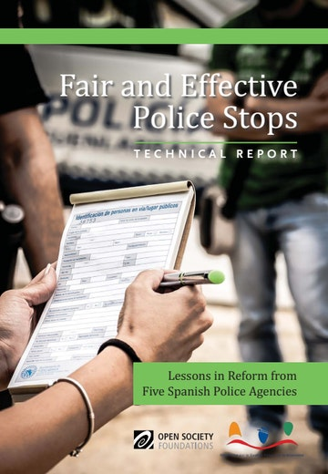 First page of PDF with filename: fair-effective-police-stops-20160208.pdf