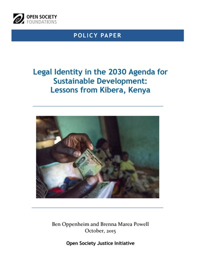 First page of PDF with filename: legal-identity-2030-agenda-lessons-kibera-kenya-2051216.pdf