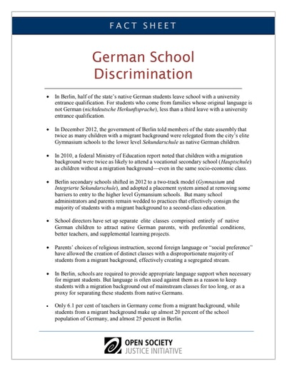 First page of PDF with filename: factsheet-german-schools-10272013.pdf