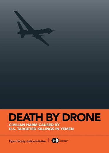 First page of PDF with filename: death-drones-report-eng-20150413.pdf