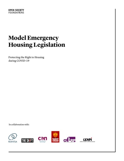 First page of PDF with filename: ji-covid_housing_report-housing_legislation-2020_12_09.pdf