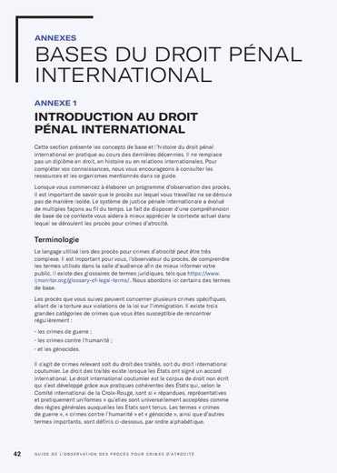 First page of PDF with filename: atrocity-guide-fr-appendix.pdf