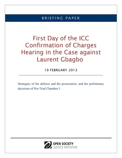 First page of PDF with filename: Gbagbo-confirmation-day1-eng-02192012.pdf