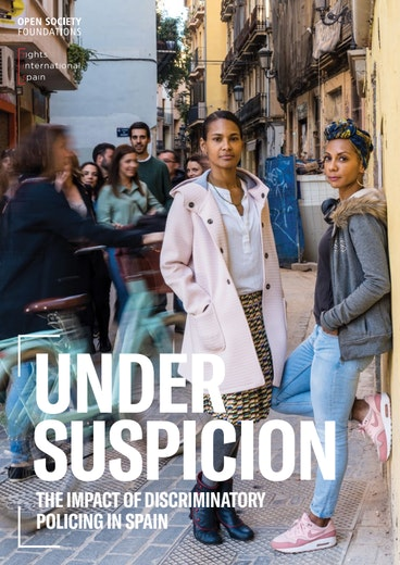 First page of PDF with filename: under-suspicion-the-impact-of-discriminatory-policing-in-spain-20190924.pdf