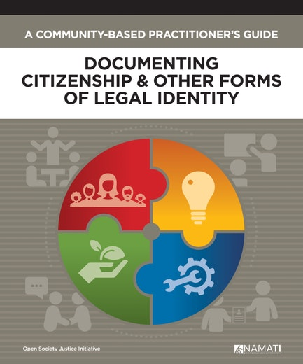 First page of PDF with filename: a-community-based-practitioners-guide-documenting-citizenship-and-other-forms-of-legal-identity-20180627.pdf