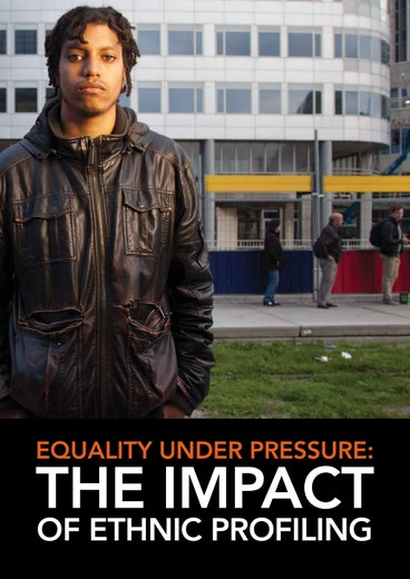 First page of PDF with filename: equality-under-pressure-the-impact-of-ethnic-profiling-netherlands-20131128_1.pdf