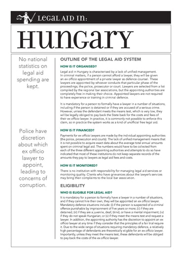 First page of PDF with filename: eu-legal-aid-hungary-20150427.pdf