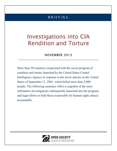 First page of PDF with filename: briefing-cia-investigations-roundup_0.pdf