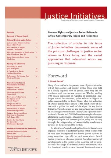 First page of PDF with filename: Justice_africa.pdf