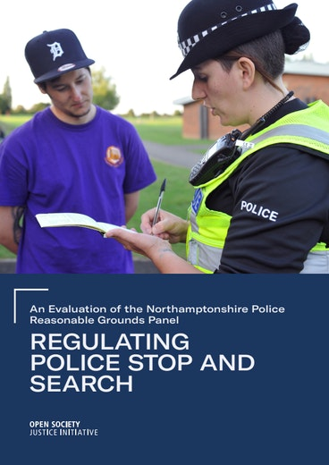 First page of PDF with filename: regulating-police-stop-and-search-20191106.pdf