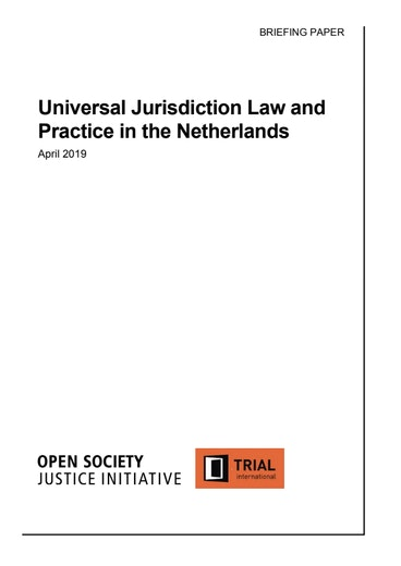 First page of PDF with filename: universal-jurisdiction-netherlands-20190606.pdf