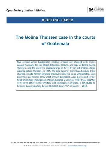First page of PDF with filename: briefing-molina-thiessen-20180220.pdf