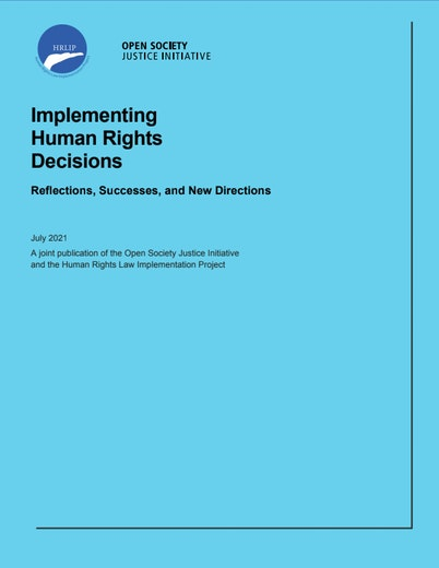First page of PDF with filename: implementing-human-rights-decisions-20210721.pdf
