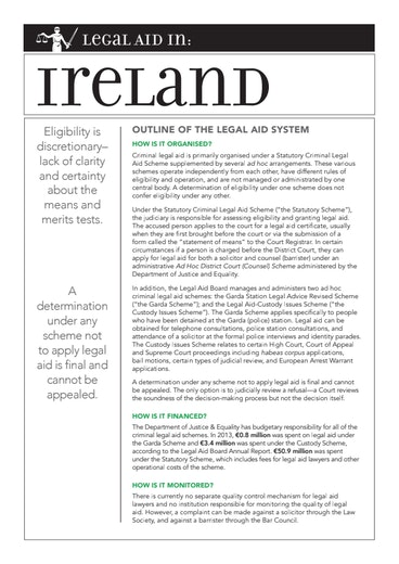 First page of PDF with filename: eu-legal-aid-ireland-20150501.pdf