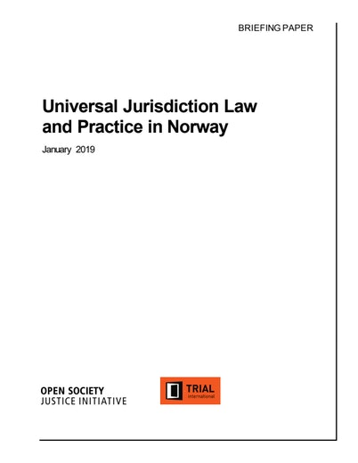 First page of PDF with filename: universal-jurisdiction-research-norway-2020020.pdf