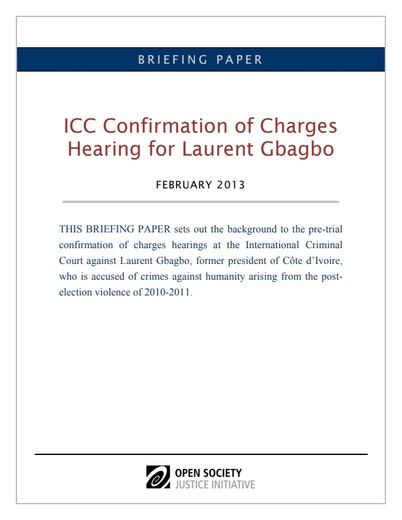 First page of PDF with filename: Gbagbo-confirmation-briefing-02152012.pdf