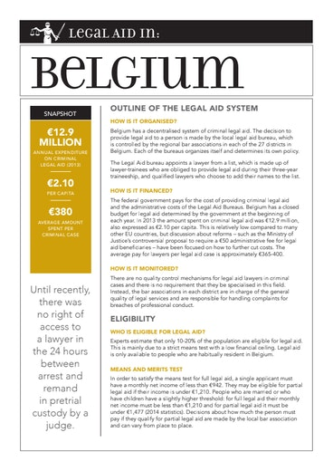 First page of PDF with filename: eu-legal-aid-belgium-20150427.pdf