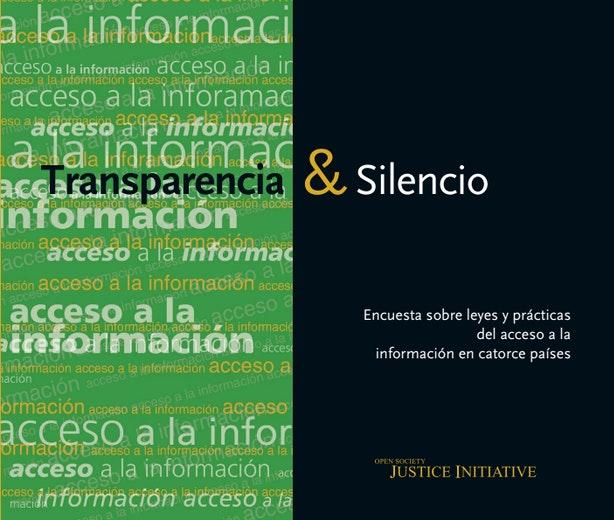First page of PDF with filename: transparencia-silencio-2006_0.pdf