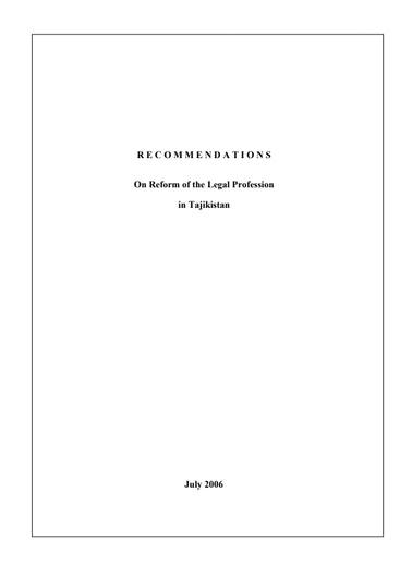 First page of PDF with filename: tajikstan_20060720.pdf