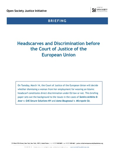 First page of PDF with filename: cjeu-headscarves-20170308.pdf
