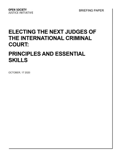 First page of PDF with filename: electing-the-next-judges-of-the-icc-10-17-2020.pdf