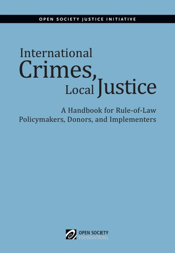 First page of PDF with filename: international-crimes-local-justice-20111128.pdf