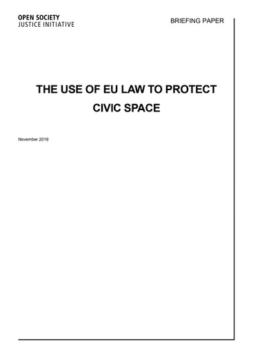 First page of PDF with filename: briefing-eu-law-civic-space.pdf