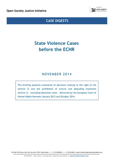 First page of PDF with filename: briefing-echr-Art 2-3-state-violence-20500505.pdf