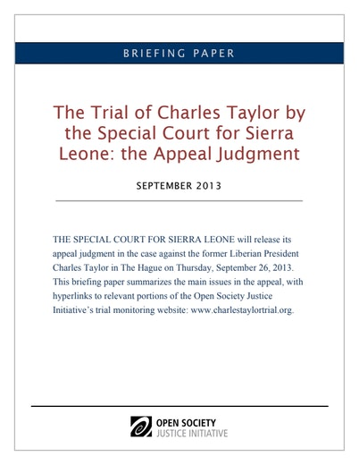 First page of PDF with filename: charles-taylor-appeal-brief-20130924_0.pdf
