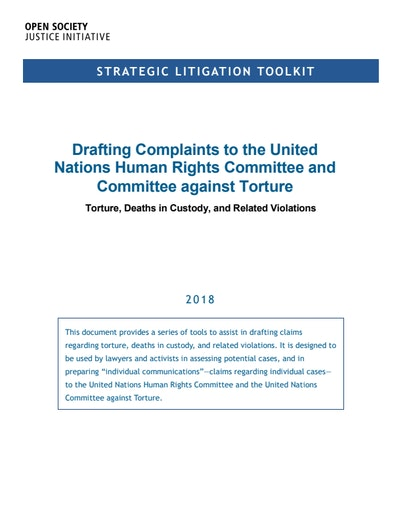 First page of PDF with filename: litigation-toolkit-torture-20180427.pdf