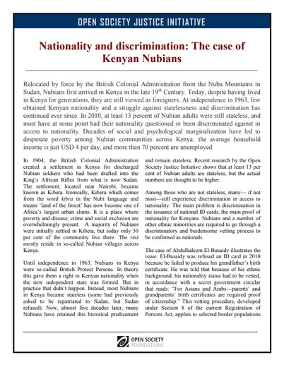 First page of PDF with filename: kenyan-nubians-factsheet-20110412.pdf