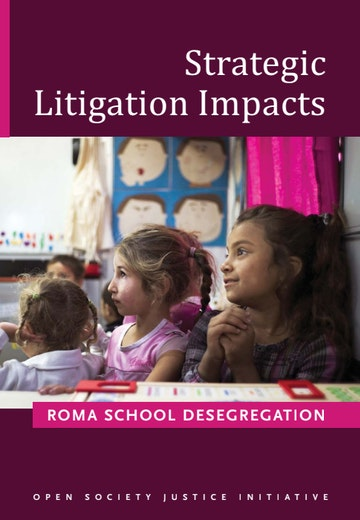 First page of PDF with filename: strategic-litigation-impacts-roma-school-desegration-20160407.pdf