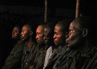 Rape suspects sitting in a row