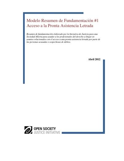 First page of PDF with filename: modelo-resumen-de-fundamentacion-acceso-pronta-asistencia-letrada-20120628.pdf