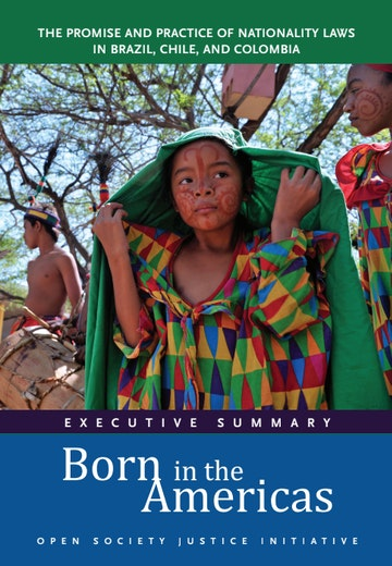 First page of PDF with filename: born-in-the-americas-exec-summary-20170323.pdf