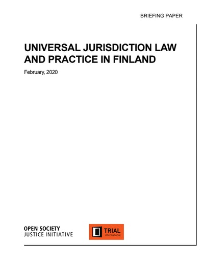 First page of PDF with filename: universal-jurisdiction-law-and-practice-finland-20200305.pdf