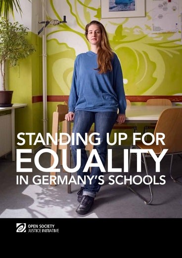 First page of PDF with filename: standing-up-for-equality-germany-schools-english-20131024.pdf