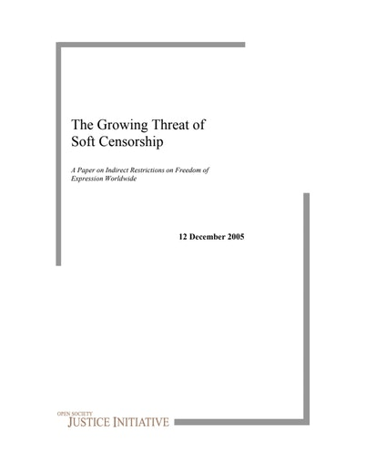 First page of PDF with filename: threat_20051205.pdf