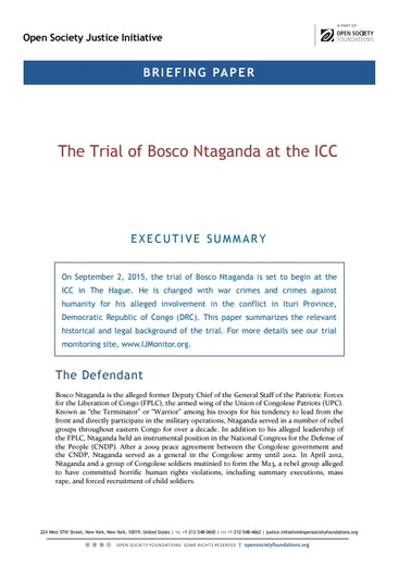 First page of PDF with filename: trial-bosco-ntaganda-icc-20150831.pdf