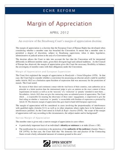 First page of PDF with filename: echr-reform-margin-of-appreciation.pdf