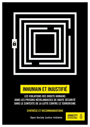 First page of PDF with filename: inhuman-unnecessary-dutch-detention-exec-summary-french-20171027.pdf