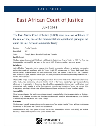 First page of PDF with filename: fact-sheet-east-african-court-justice-20130627.pdf