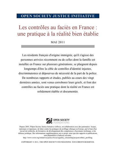 First page of PDF with filename: ethnic-profiling-in-france-a-well-documented-practice-french-2011-05-23_0.pdf