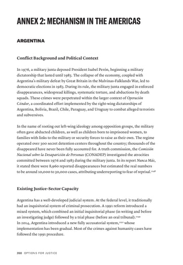 First page of PDF with filename: options-for-justice-annex-2-americas-20180918.pdf