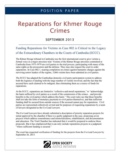 First page of PDF with filename: PositionPaper-ECCC-reparations-09-10-2013.pdf