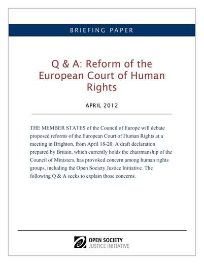 First page of PDF with filename: echr-reform-qanda-4-3-12-2.pdf