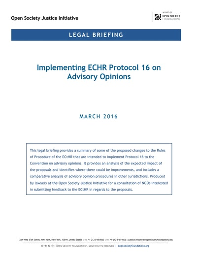 First page of PDF with filename: briefing-echr-protocol-16-20160322.pdf