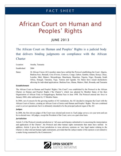 First page of PDF with filename: fact-sheet-african-court-human-peoples-rights-20130627.pdf
