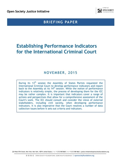 First page of PDF with filename: briefing-icc-perforamnce-indicators-20151208.pdf